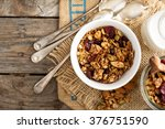 Homemade Granola With Milk For...