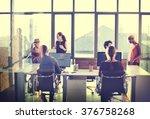 business communication... | Shutterstock . vector #376758268