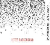 abstract black alphabet... | Shutterstock .eps vector #376760644