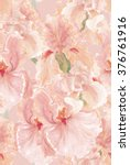 seamless pattern with beautiful ... | Shutterstock . vector #376761916