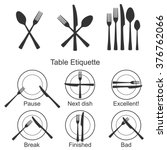 cutlery and signs of table... | Shutterstock .eps vector #376762066
