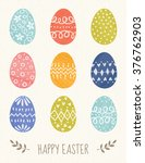 vector easter card design with... | Shutterstock .eps vector #376762903