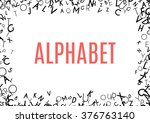 abstract black alphabet... | Shutterstock .eps vector #376763140