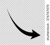 declining arrow sign. flat... | Shutterstock .eps vector #376767070