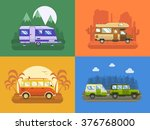 rv travel concept set. camping... | Shutterstock .eps vector #376768000