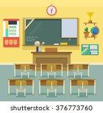 school classroom. vector flat... | Shutterstock .eps vector #376773760