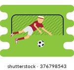 illustration of soccer player... | Shutterstock .eps vector #376798543