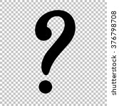 question mark sign. flat style... | Shutterstock .eps vector #376798708