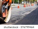 steamroller during road... | Shutterstock . vector #376799464