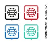 internet   vector icon  map... | Shutterstock .eps vector #376802764