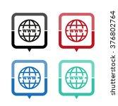 internet   vector icon  map... | Shutterstock .eps vector #376802764