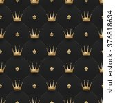 Seamless Gold Pattern With Kin...