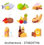 vector set of icons of natural... | Shutterstock .eps vector #376820746
