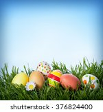 Decorated Easter Eggs In The...