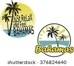 two bahamas artworks for t... | Shutterstock .eps vector #376824640