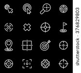 vector line target icon set | Shutterstock .eps vector #376829803