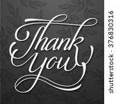 thank you classic vector hand... | Shutterstock .eps vector #376830316