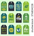 vector eco  organic  bio logo...   Shutterstock .eps vector #376834228