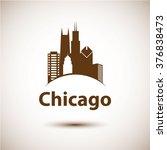 Chicago Usa Skyline Silhouette  ...