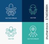 vector set of abstract logo... | Shutterstock .eps vector #376838884