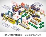 illustration of info graphic... | Shutterstock .eps vector #376841404