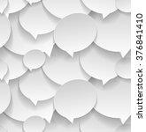 speech bubbles. seamless...   Shutterstock .eps vector #376841410