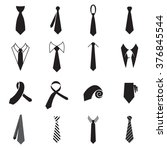 tie icons. necktie icons.... | Shutterstock .eps vector #376845544