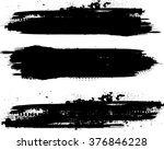 grunge paint stripe . vector... | Shutterstock .eps vector #376846228