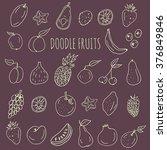 collection of fresh fruit...   Shutterstock .eps vector #376849846