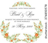 invitation or wedding card with ... | Shutterstock .eps vector #376850578