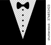 tuxedo with bow silhouette.... | Shutterstock .eps vector #376852423