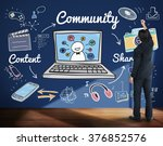 community people connection... | Shutterstock . vector #376852576