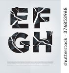 typographic broken alphabet in... | Shutterstock .eps vector #376853968