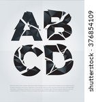 typographic broken alphabet in... | Shutterstock .eps vector #376854109