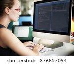 businesswoman programmer...