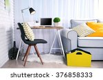 modern workplace at home | Shutterstock . vector #376858333