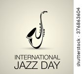 international jazz day vector... | Shutterstock .eps vector #376863604