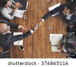 business team meeting handshake ... | Shutterstock . vector #376865116