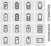 vector line battery icon set.   Shutterstock .eps vector #376865368