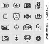 vector line photo icon set. | Shutterstock .eps vector #376865674