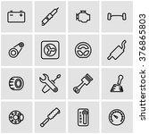 vector line car parts icon set.   Shutterstock .eps vector #376865803