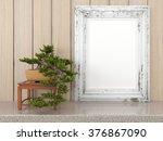 empty modern style frame  3d... | Shutterstock . vector #376867090