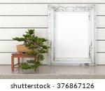empty modern style frame  3d... | Shutterstock . vector #376867126