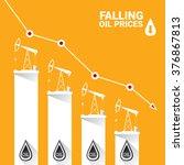 oil price falling down graph... | Shutterstock .eps vector #376867813