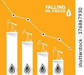 oil price falling down graph... | Shutterstock .eps vector #376867930