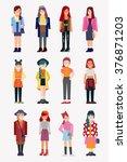 fashion girls   Shutterstock .eps vector #376871203