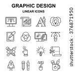 vector graphic designer icons... | Shutterstock .eps vector #376871950