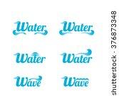 blue wave logo design elements. ... | Shutterstock .eps vector #376873348