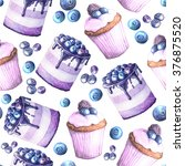 seamless pattern with... | Shutterstock . vector #376875520