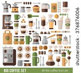 big set of icons in flat style. ... | Shutterstock .eps vector #376876006